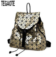 Fashion BAO BAO Women Backpack Diamond Lattice Geometry Quilted Ladies Bao Bao Backpack Sac Bag For