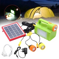 USB Solar Power LED Bulb Lamp LED Flashlight Outdoor Portable Hanging Lighting Camp Tent Light Fishing Lantern Emergency