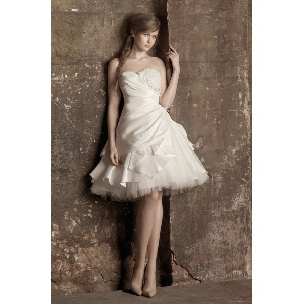 Sexy Short Mini Wedding Dress Tulle Puffy Brides Dresses