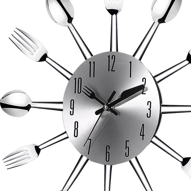 Metal Tableware Patterned Wall Clock