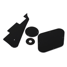 1 Set Black Pickguard Cavity Cavity Cover Switch Cover Toggle Switch Plate Pickup Selector Plate for LP Electric Guitar