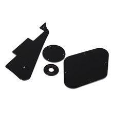 1 zestaw czarny Pickguard wnęka wnęka pokrywa obudowa przełącznika przełącznik dwupozycyjny płyta Pickup Selector płyta dla lp gitara elektryczna