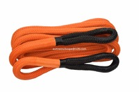 Orange 1inch 30ft Kinetic Recovery Rope Bubba Rope Double Braied Nylon Energy Rope Towing Rope