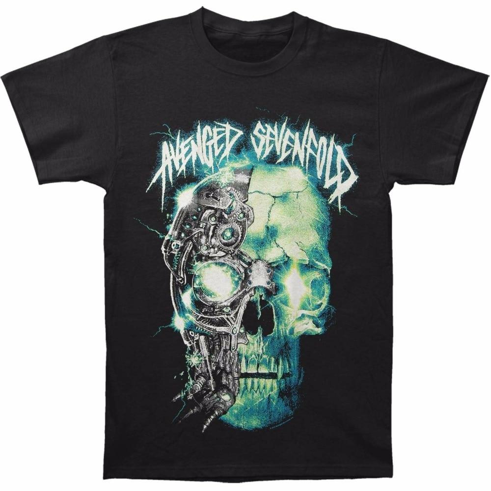 Funny T Shirt Designs Mens O-Neck Graphic Short Sleeve Avenged Sevenfold Avs Turbo Skull Printed Mens T-Shirt T Shirts