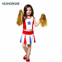 New Girls Children Performance Clothing Dress Primary School Uniforms Set Student Costumes Graduation Cheerleader TOP SKIRT