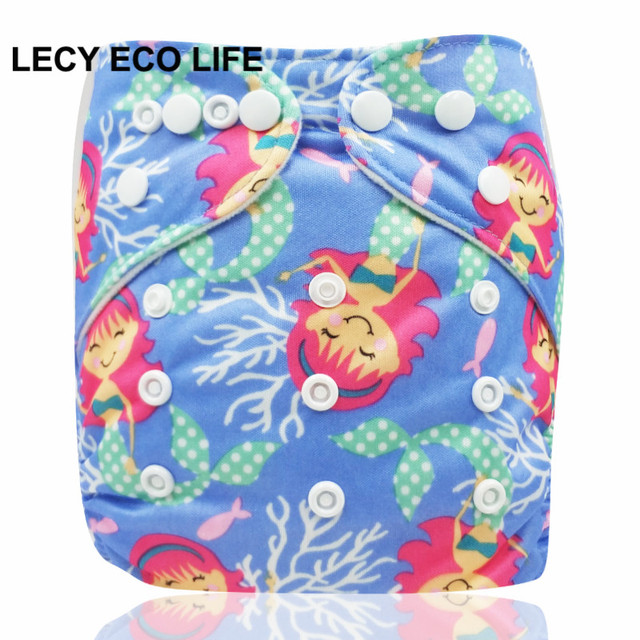 2ab3b6845 LECY ECO LIFE baby reusable one size pocket diaper with snap closure ...