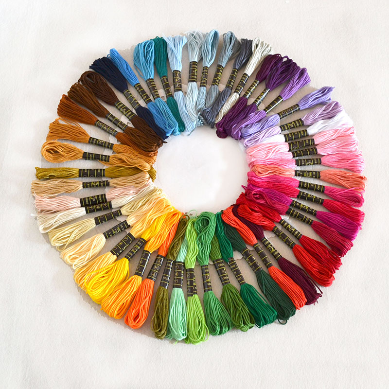 50pcs/set Anchor Cross Stitch Cotton Embroidery Thread Floss Sewing Skeins Craft Different Colors Dropshipping