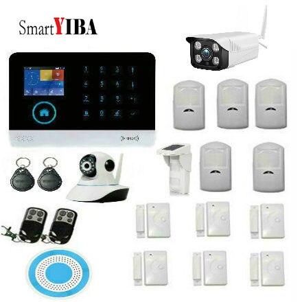 SmartYIBA iFi Alarme GSM GPRS SMS Sans Fil de Sécurité À Domicile Système D'alarme Anti-Intrusion avec sans fil intelligente pet-immunité