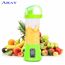 цена на 380ml Portable Blender Juicer Cup USB Rechargeable Electric Automatic Vegetable Fruit Citrus Orange Juice Maker Cup Mixer Bottle