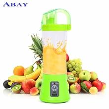 380 мл переносной блендер соковыжималка чашка USB перезаряжаемая электрическая автоматическая овощная Цитрусовые фрукты апельсин соковыжималка чашка бутылка для смешивания
