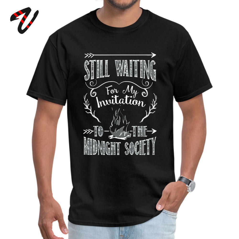 Printed On Mens Discount Cool Tops T Shirt Crew Neck Summer/Autumn 100% Cotton T-Shirt Summer Short Sleeve Tops Shirts Are You Afraid of the Dark 90s Nostalgia black