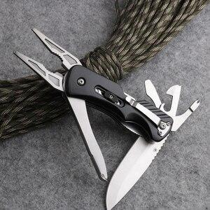 Image 2 - באיכות גבוהה כיס קמפינג סכין פלייר Multitool מתקפל EDC כלים חיצוני הישרדות ציד יד כלים DSP043P