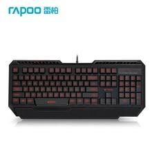 Rapoo V55 USB Wired Backlit Ergonomic Gaming Keyboard for Desktop Laptop Rapoo Keyboards for Games LOL High Quality