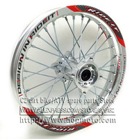Silver 1 85 X 14inch Rear Rims Aluminum Alloy Disc Plate Wheel Rims Gold CNC Hub