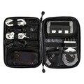 Nueva electrónica accesorios de viaje bolsa de Nylon para hombre del organizador del recorrido para fecha tarjeta SD Line Cable Digital bolsa dispositivo