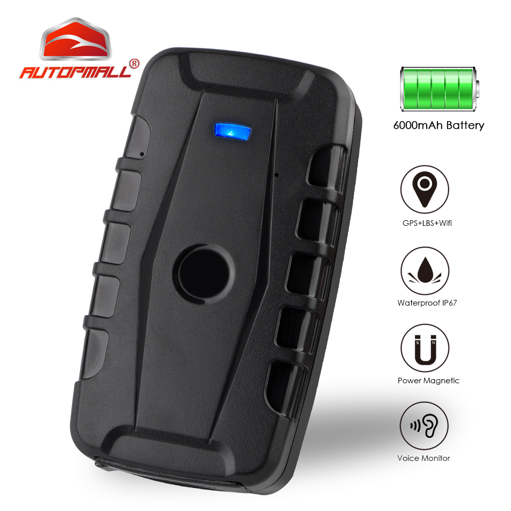 GPS Tracker Car Locator 2G Vehicle Tracker GPS Waterproof Magnet 6000mAh Long Standby Time Voice Monitor