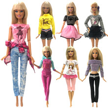 NK 2019 Newest Doll Clothes Fashion Dress Daily Wear Skirt Party Gown For Barbie Doll Accessories Girl Best Gift 0JJ(China)
