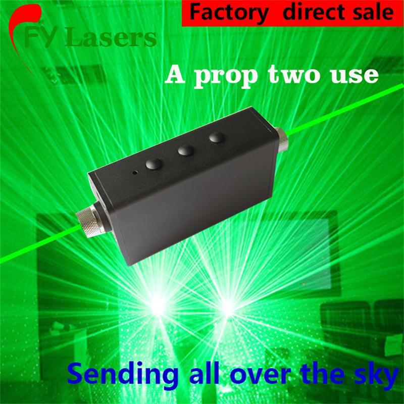 Işıklar ve Aydınlatma'ten Sahne Aydınlatması Efekti'de Mini Lazer kalem Çift Yönlü Yeşil Lazer Kılıç Lazer Adam Gösterisi Taşınabilir lazer dans sahne 532nm200mW title=