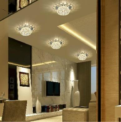 5W Bedroom Led Crystal Ceiling Lamps For Home Modern Living Room Spotlights  Aisle Lights Chandelier Lighting