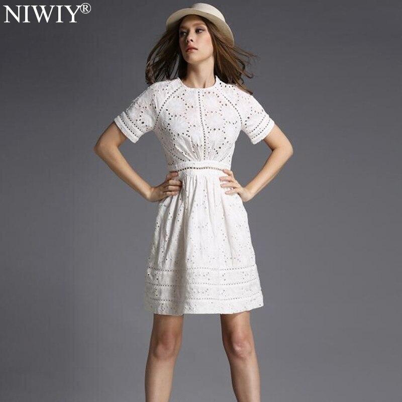 NIWIY Brand Dress Summer Style Kate Middleton Princess Dress Aliexpress uk 2017 Cotton Elegant Women Embroidered