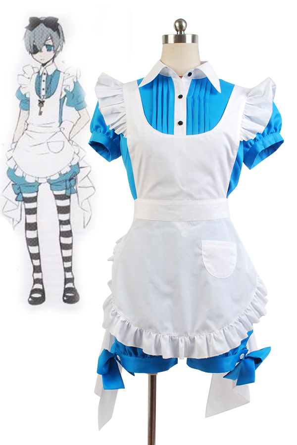 Black Butler Earl Ciel Alice Dress Cosplay Costume Women Girls Halloween Carnival Costumes