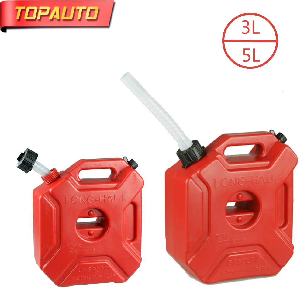 3L 5L Fuel Tank Cans Spare Plastic Petrol Tanks Mount Motorcycle Car Gas Can Gasoline Oil