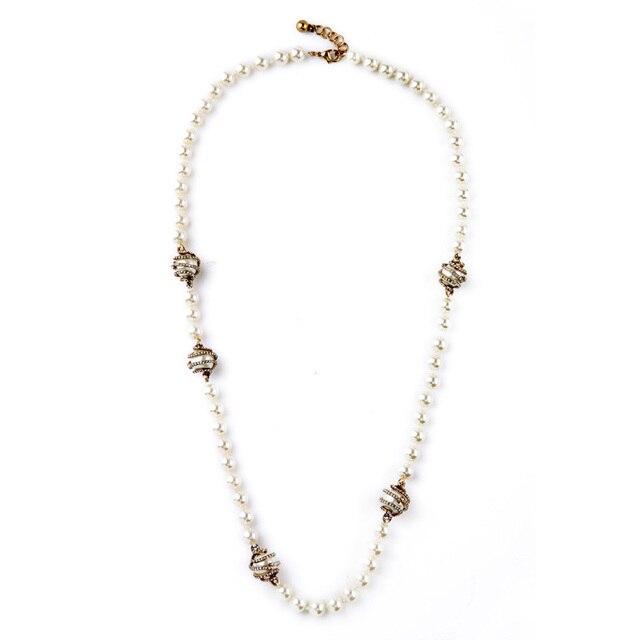 75b1f34d34fb One direction suave imitación perlas Cuentas collar cadena suéter hecho a  mano joyería Día de San