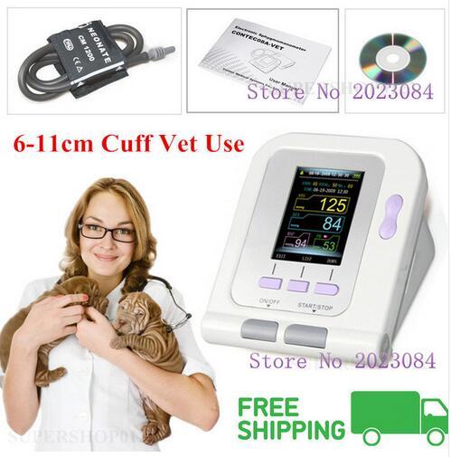 OLED CONTEC Vet Veterinária digital Blood Pressure & Heart Beat Monitor de NIBP CONTEC08A-VET
