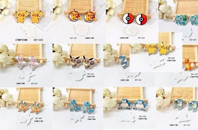 Kawaii dessin animé Pokemon Figurine décoration de la maison dos plat  planaire résine artisanat bricolage cheveux