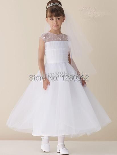 Aliexpress.com : Buy White Holy Girl Wedding First Communion Sheer ...