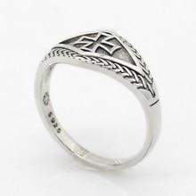 лучшая цена 925 Sterling Silver Cross Men Ring Knights Templars Vintage Punk Christian Retro Thai Silver Ring for Male Fashion Jewelry