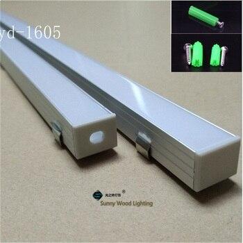 10-40 шт./лот 2 м алюминиевый профиль 80 дюймов светодио дный бар свет для двойной ряд светодио дный полосы, W18 * H13mm алюминиевый корпус 16 мм pcb