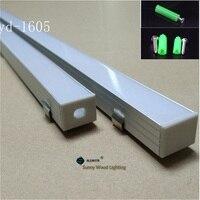 10 40pcs/lot 2m aluminium profile 80inch led bar light for double row led strip ,W18*H13mm aluminium housing of 16mm pcb