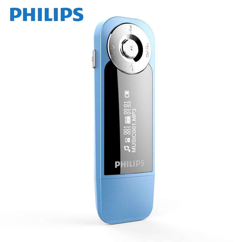 PHILIPS SA1208 загрузка Спорт 8 ГБ музыкальный плеер с экраном мини-клип цифровой Mp3 плеер с радио FM USb MP3 APE
