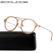 Vintage Acetate Glasses Frame Women Prescription Eyeglasses Myopia Optical Men Eyewear