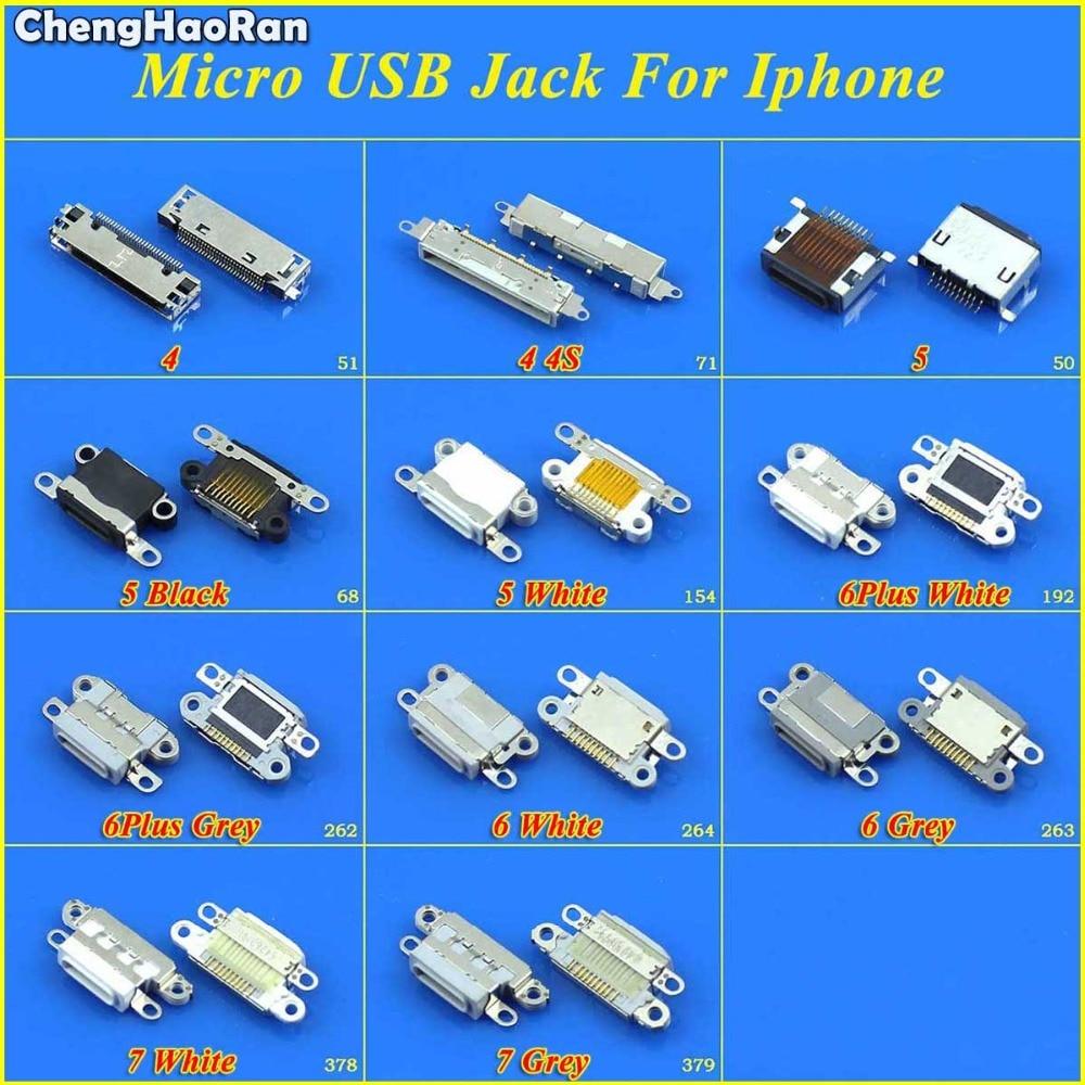 ChengHaoRan DC Power Jack For IPhone 4 4G 4S 5 5G 6 6Plus 6S 7 7G 7P 8 8P X Charging Port Female Socket Micro USB Connector Plug