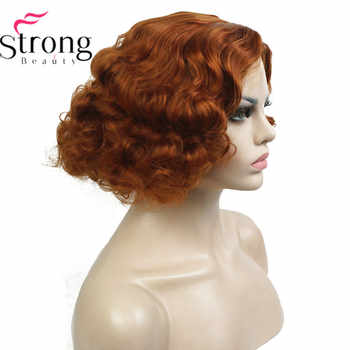 StrongBeauty Copper/Blond Flapper Hairstyle Short Curly Hair Women's Synthetic Capless Wigs - DISCOUNT ITEM  22% OFF All Category