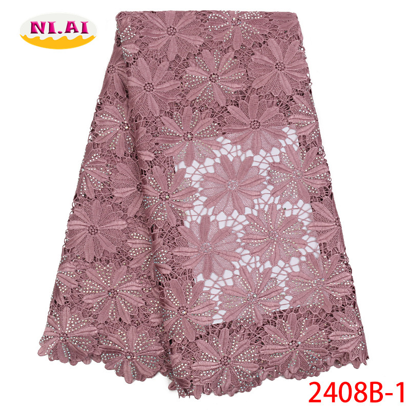 High Quality African Fabric Lace, Tissu Africain Suisse Lace Flowers, Embroidered Fabrics Blush Pink MR2408b-in Lace from Home & Garden    1