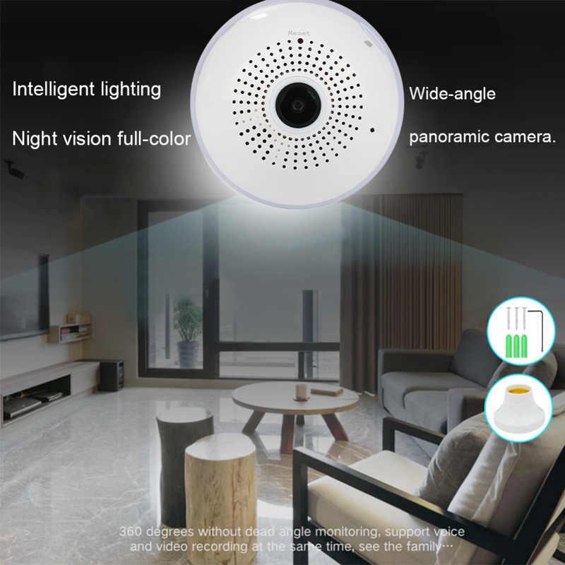 1080 P 360 градусов панорамный Беспроводной IP «Умная лампа» видеонаблюдение объектив «рыбий глаз» 3D VR Камера 2MP Ночное видение Главная видеонаблюдения