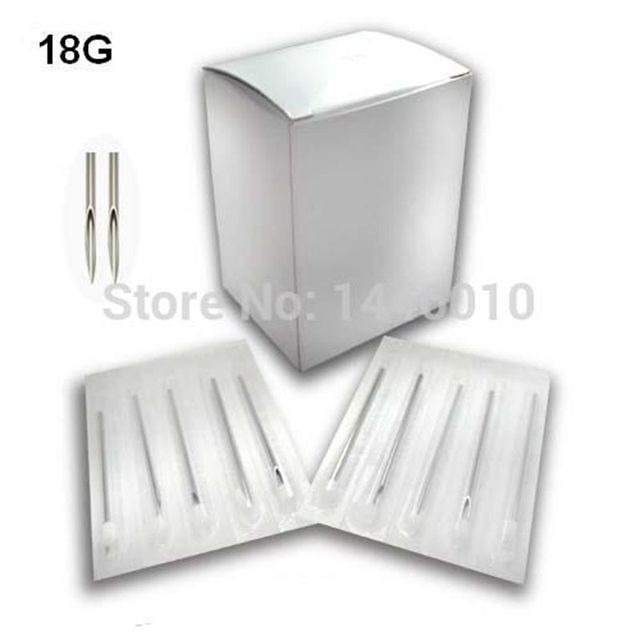 100PCS 18G Piercing Needles Sterile Body Piercing Needles Assorted Sizes Sterile Tattoo Needles Supply
