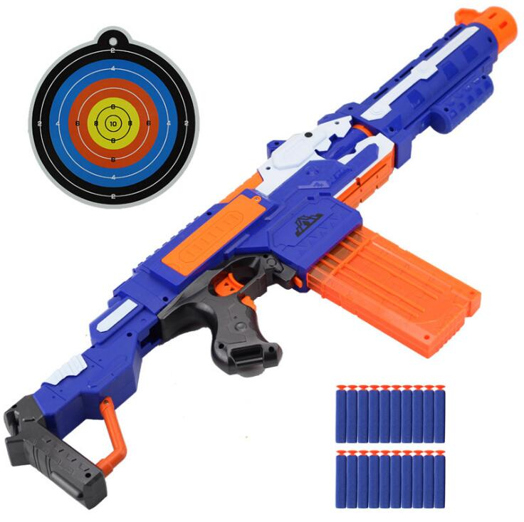 2018 Electrical Soft Bullet Toy Gun Pistol Sniper Rifle Plastic Gun Arme Arma Toy For kid Gift Perfect Suitable for nerf Toy Gun