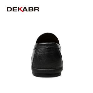 Image 3 - DEKABR Brand Fashion Soft Split Leather Breathable Mens Shoes Slip on Mocassins Men Loafers Anti skid Driving Casual Shoes Men