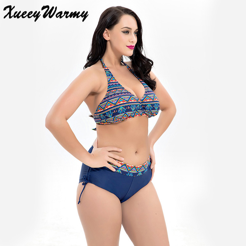 362c3fddfd2 2018 Plus Size Bikini Set Summer Push Up Sexy Women Swimwear Female Large  Size Swimsuits Big