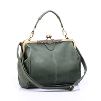 Vintage Women Messenger Bags Small Retro Crossbody Shoulder Bags Female Fashion Metal Frame Pu Leather Small