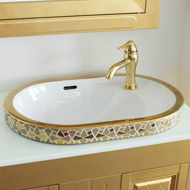 Jingdezhen Bathroom ceramic sink wash basin Counter Top ...