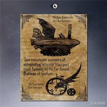 Steampunk Art Print Wall Poster Batman_vehicles By_kenfreelance Painting Printed On Canvas gift Landscape Rectangle Canvas