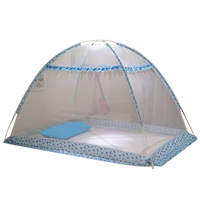 Comfortable Baby Mosquito Net Blue Folding Crib Tent Crib Netting Infant Mosquito Net Cradle Bed Canopy