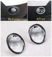 ABS Chrome Front Fog Light Lamp Cover Trim 2pcs For Ford Explorer 2011 2012 2013 2014