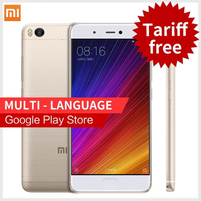 Original Xiaomi Mi5s smartphone 5.15'' 4GB RAM 128GB ROM Snapdragon 821 Mi 5s 4K Video Mobile Phones