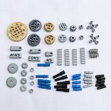 ZXZ 60pcs/set Technic Parts Gears Conectors Model Building Blocks DIY Toys for Boys Compatible With Technic Accessory(China)
